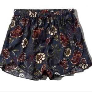Abercrombie and Fitch Floral Drapey Shorts